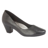 Ladies Boulevard Black PU Court Shoe