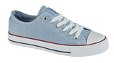 Ladies Dek Light Blue Washed Canvas Shoe