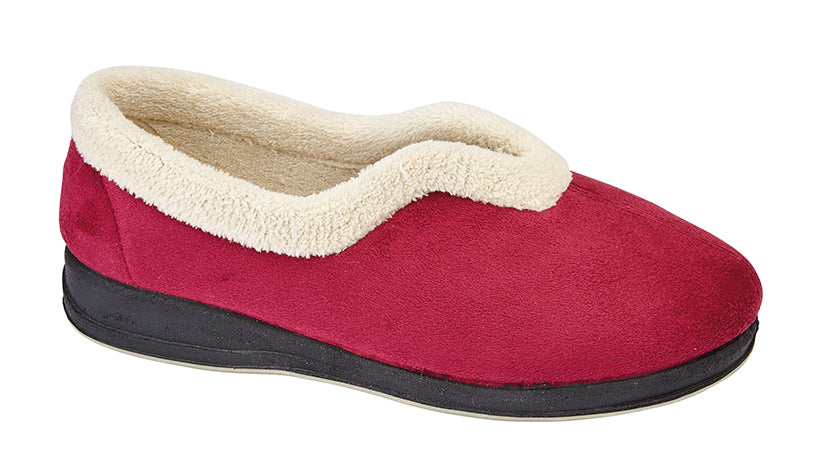 "Ladies Synthetic Suede Slipper ""Olivia"""