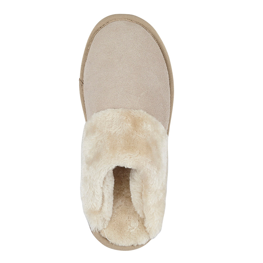 Ladies Mokkers Suede Mule Slipper