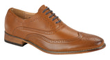 Goor Mens Formal Brogues Black/Brown/Tan
