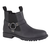 Roamers Black Leather Twin Gusset Ankle Boot