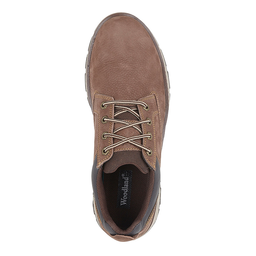 Mens Brown Tumbled Nubuck Casual Shoe