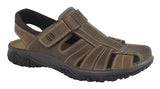 IMAC Brown Waxy Leather/Suede Sports Sandal