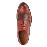 Mens Roamers Red Tan Leather Brogue
