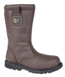 Mens Grafters Goodyear Welted Thermal Safety Rigger Boot