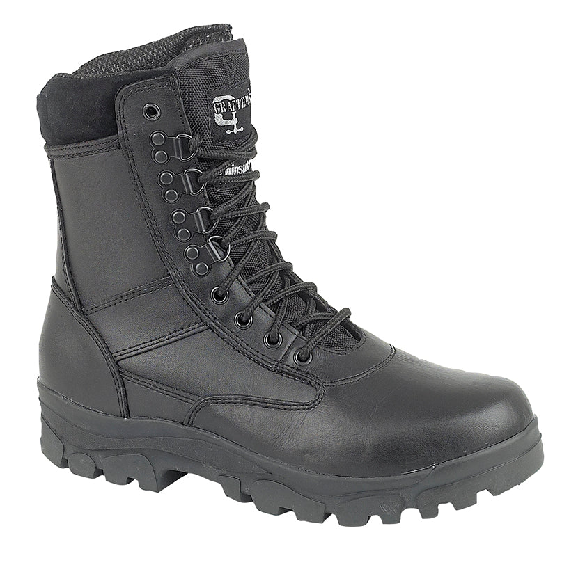 Grafters Black Combat Boot