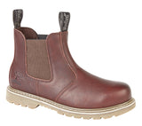 Woodland Brown Tumbled Leather Chelsea Boot