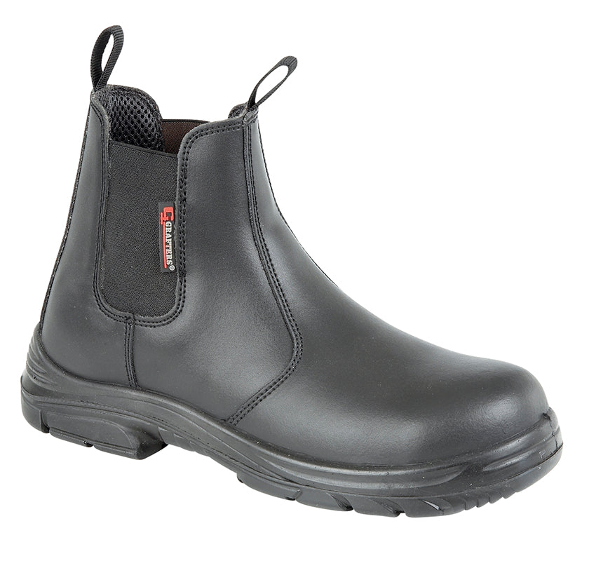 "Mens  Grafters ""Super Wide EEEE"" Safety Boot"