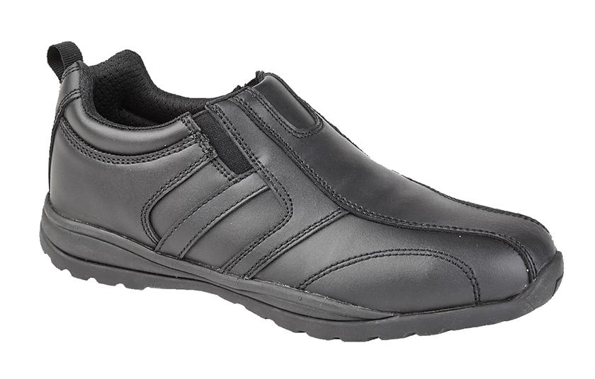 Mens Black Real Steel Toe Trainer
