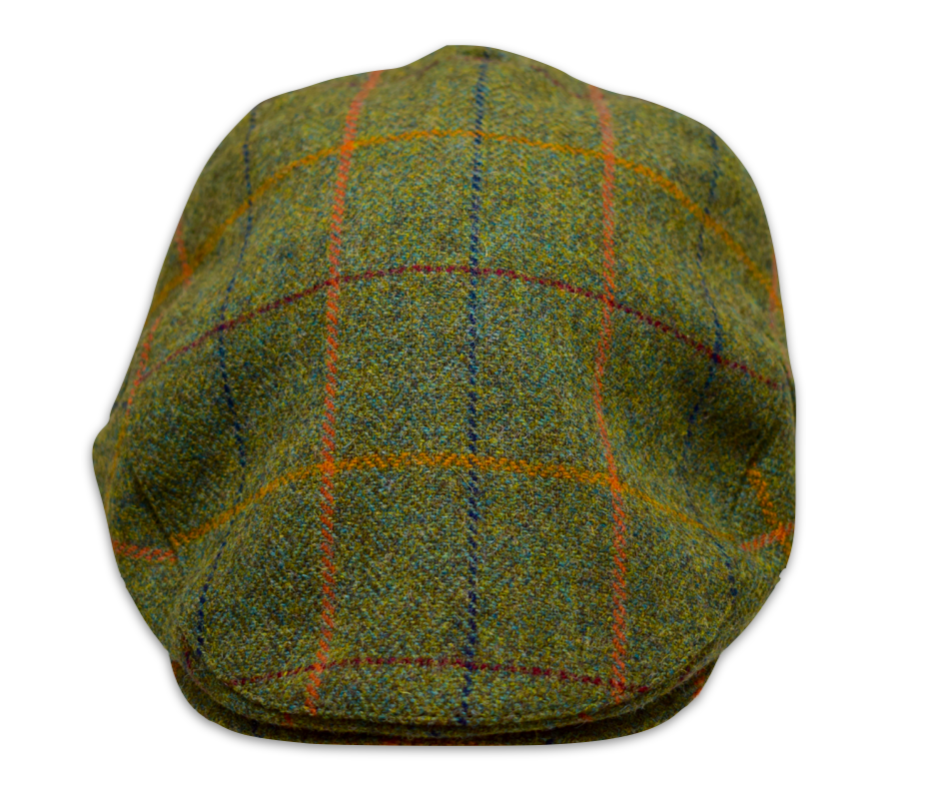 Woodland Green Wool Flat cap