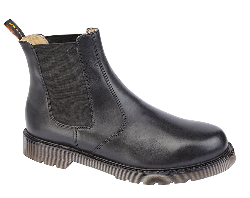 Tred Flex Black Leather Twin Gusset Chelsea Boot
