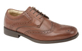 Tred Flex Cognac Leather Gibson Brogue Shoe