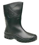 Dunlop 'Dee Calf' Wellingtons Black
