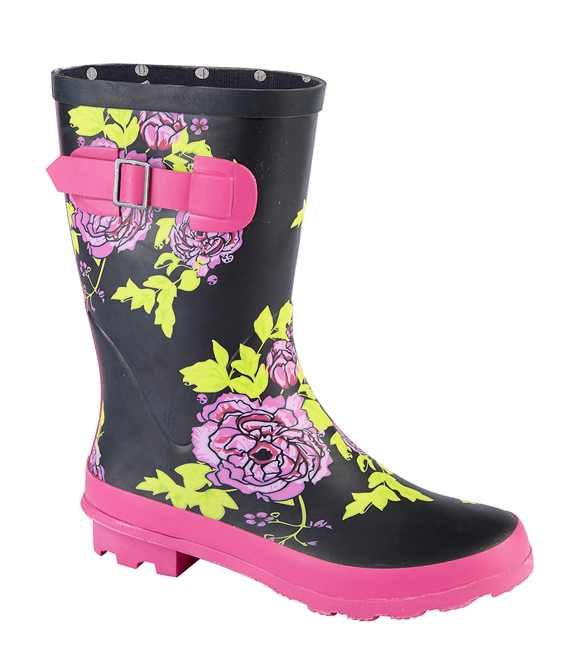 Ladies Floral Print Wellie