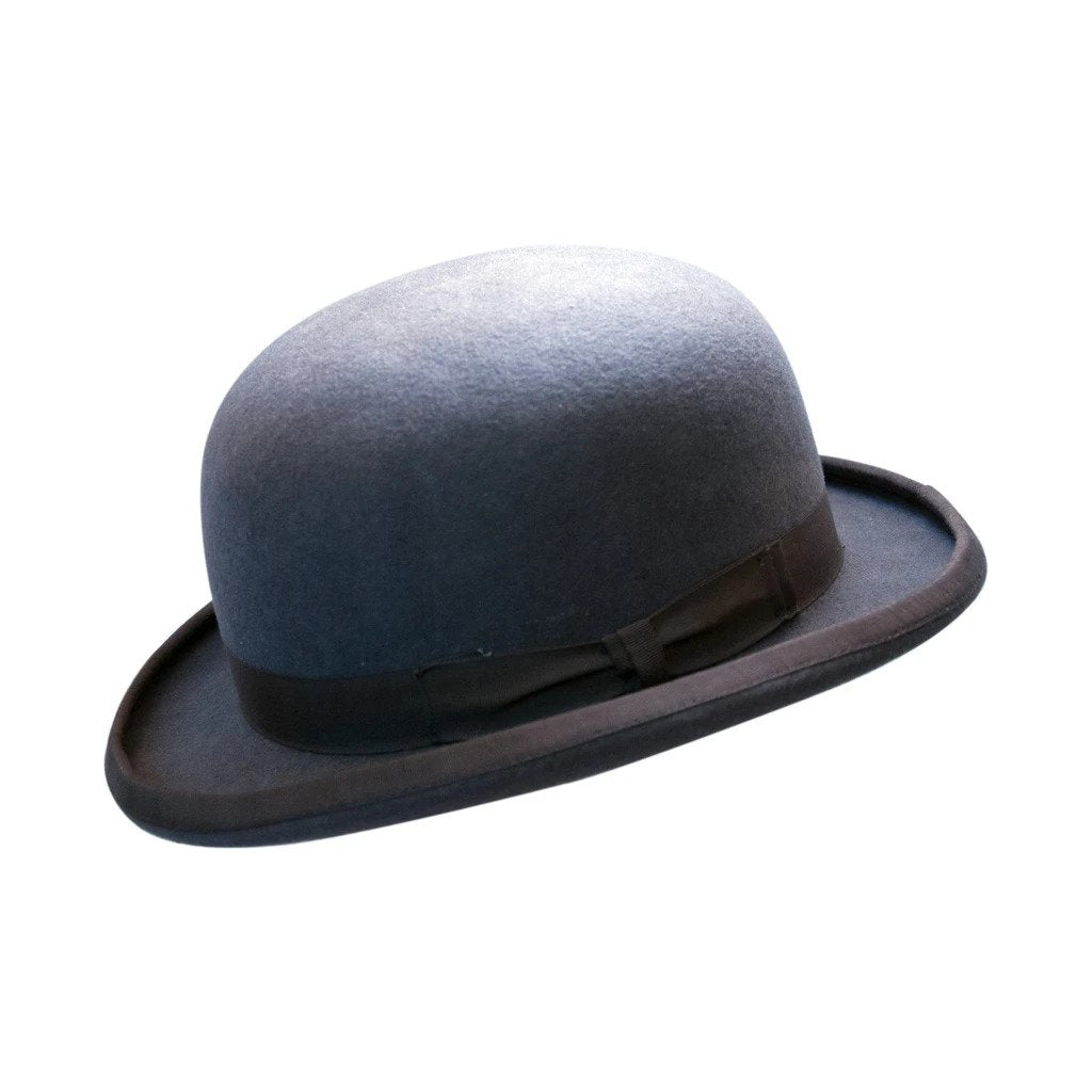 Grey Wool Felt Bowler Hat