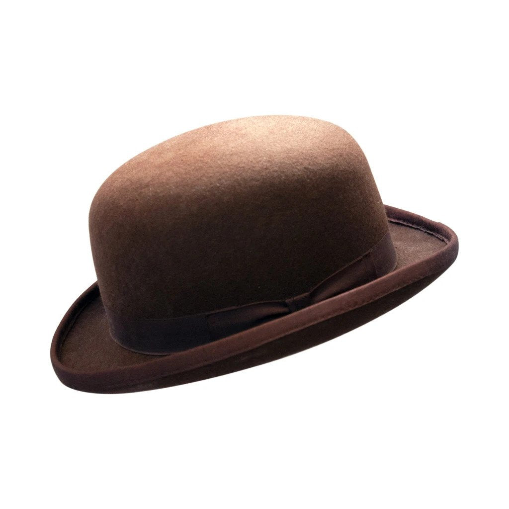 Brown Wool Felt Bowler Hat