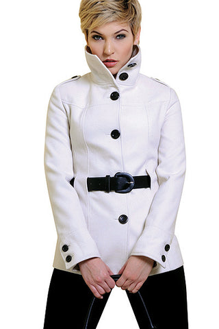 High-Neck Belted Coat from Georgiou
