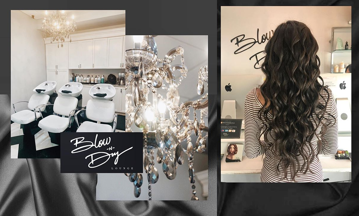 Curly hair blow out by Blow-N-Dry Beauty Lounge