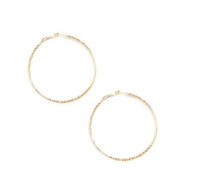 <p>Textured Thin Double Hoop</p>