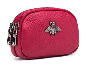 <p>Mini Leather Bee Wallet (+ Colors)</p>