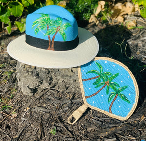 <p>Handpainted Iraca Fan</p>