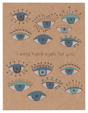 <p>Eyes On You Greeting Card</p>