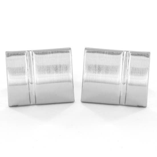 <p>Brushed Stainless Steel Cufflinks</p>