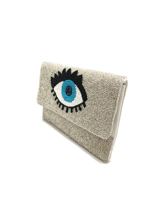 <p>Tia Evil Eye Clutch SM</p>