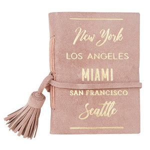 <p>City List Suede Mini Notebook</p>