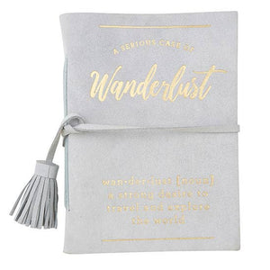 <p>Wanderlust Suede Notebook</p>