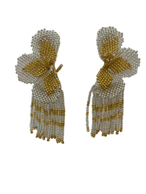 <p>Lilia Orchid Fringe Earrings</p>