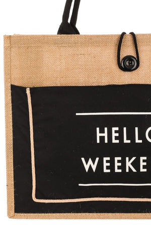 <p>Hello Weekend Tote</p>