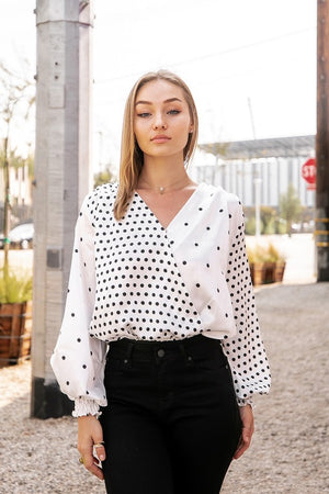 <p>Mixed Dot V Cross Bodysuit</p>