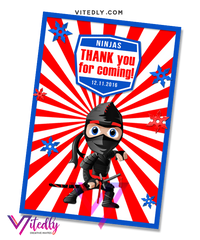 American Ninja Warrior Thank you card