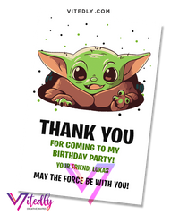 Baby Yoda Thank you card