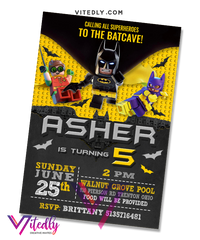 Batman LEGO Invitation
