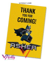 Batman LEGO Thank you card