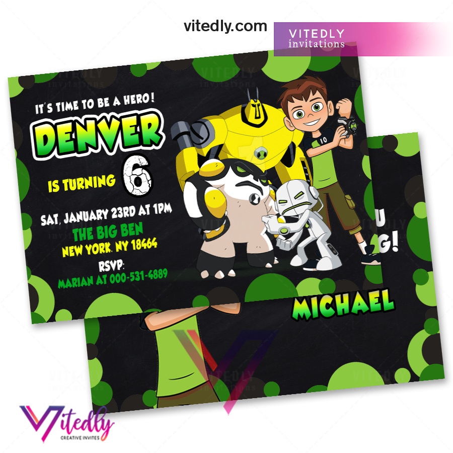 Ben 10 Party Invitation