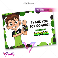 Ben 10 Thank you card