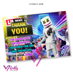 DJ Marshmello Thank you card