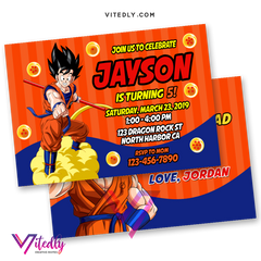 Dragon Ball Z Invitation