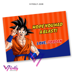 Dragon Ball Z Thank you card