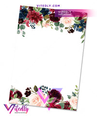 Floral Burgundy Bridal Shower back design