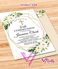 Floral Elegant First Communion for girls