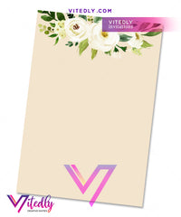 Floral Elegant First Communion back design