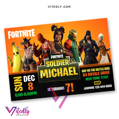 Fortnite Birthday Invitation Season 8