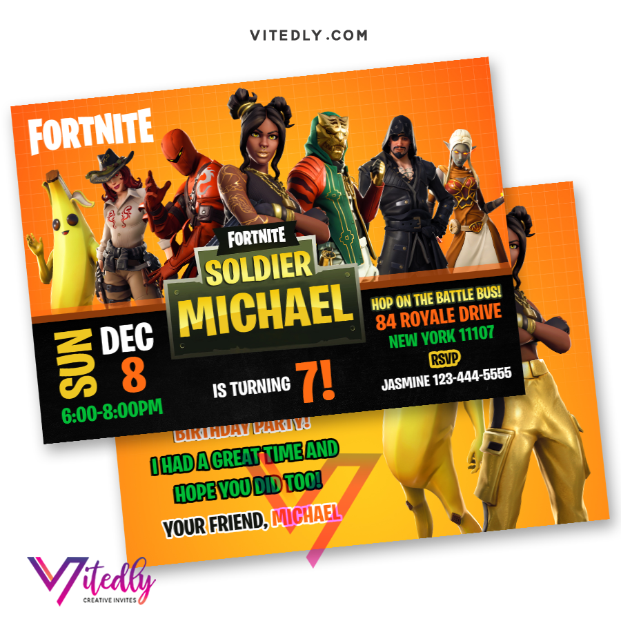 Fortnite Invitation Season 8