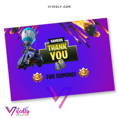 Fortnite Thank you card