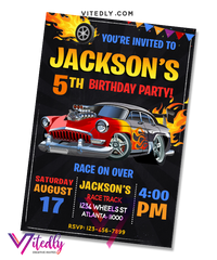 Hot Wheels Birthday Invitation
